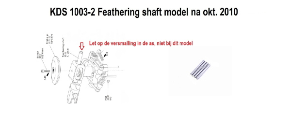 1003-2  Feathering Shaft 4,0mm type na okt 2010